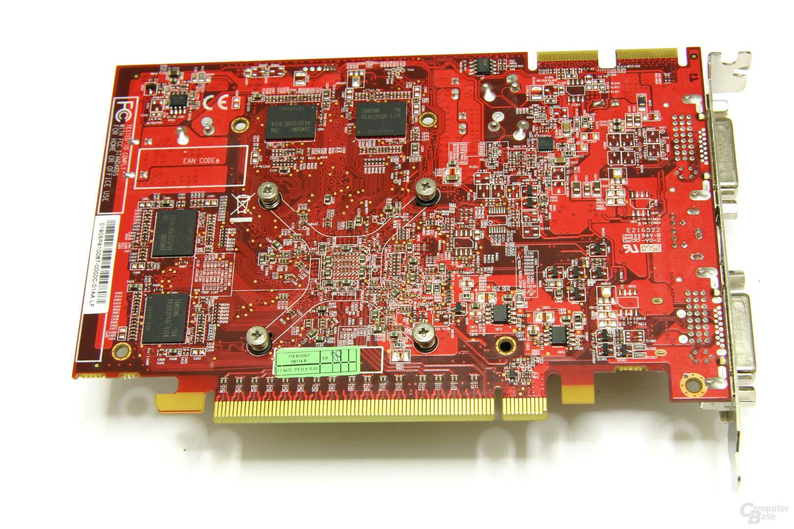PC Radeon HD 3650 Rückseite