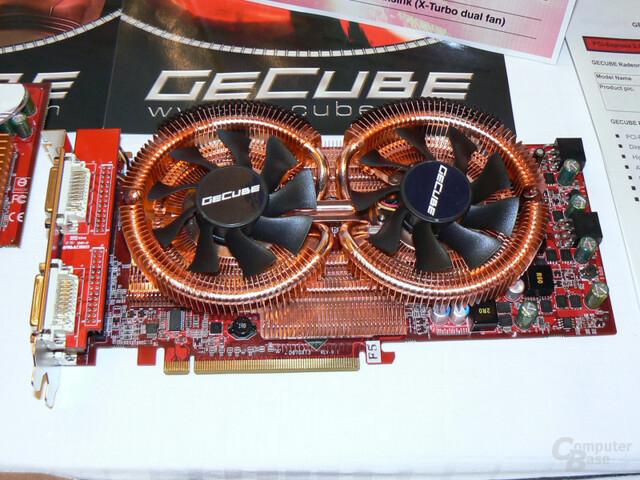 Übertaktete GeCube HD 3870 X2 mit neuem Lüfter