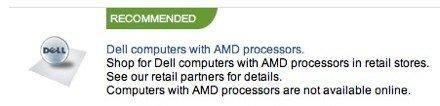 Keine Dell Systeme mit AMD CPU mehr online