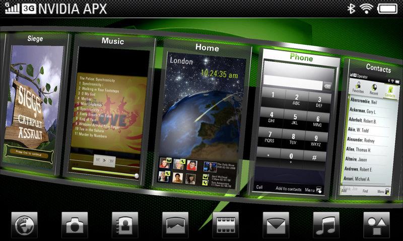 Nvidia APX 2500 Interface