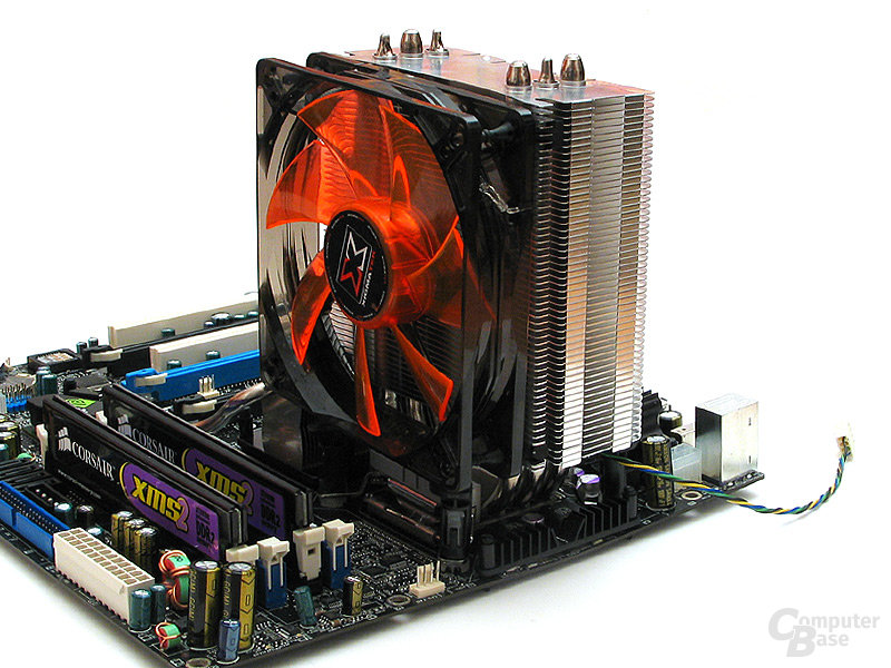 Montierung auf Intel Sockel 775 per Push-Pin