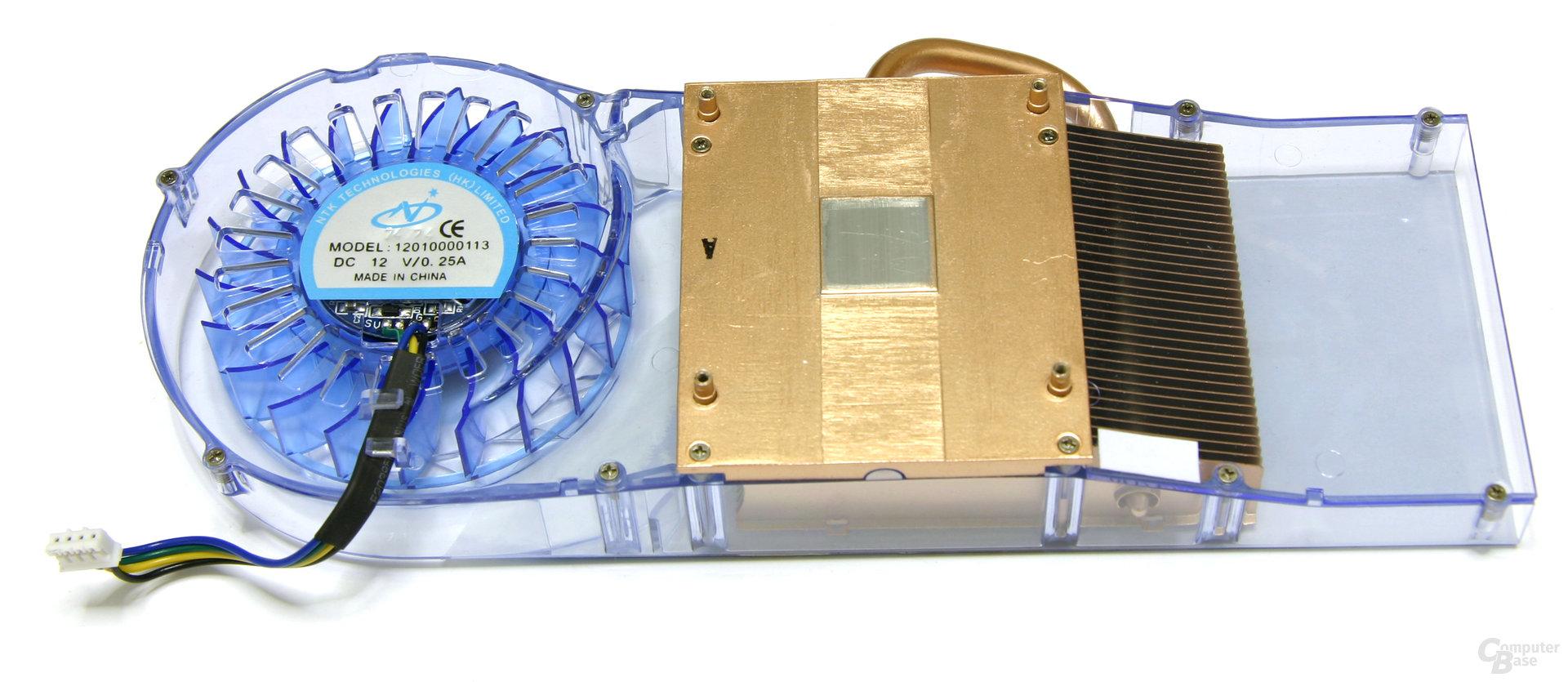 Radeon HD 3850 IceQ3 Turbo X Kühlerrückseite