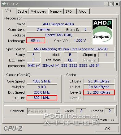 CPU-Z mit falsche Bezeichnung, der Rest aber stimmt