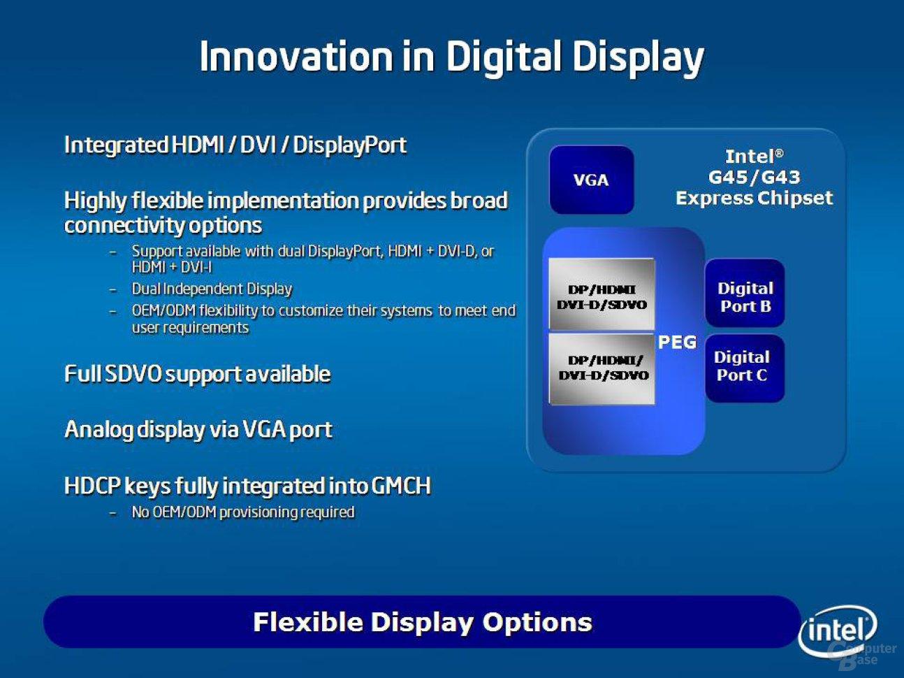 Grafikfeatures von G45 und G43 decken auch Display-Port ab – CeBIT 2008