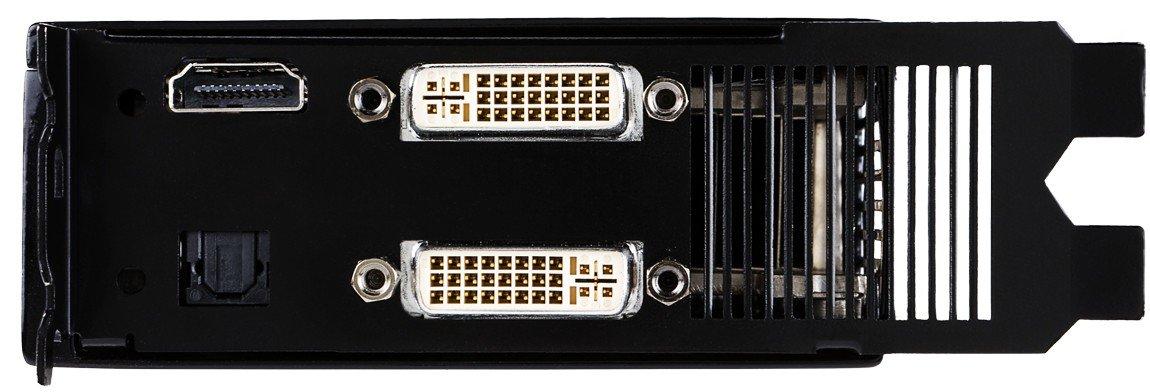 2x DVI-I-Ausgang, HDMI-Out & opt. SPDIF-Eingang (für HDMI-Audio)