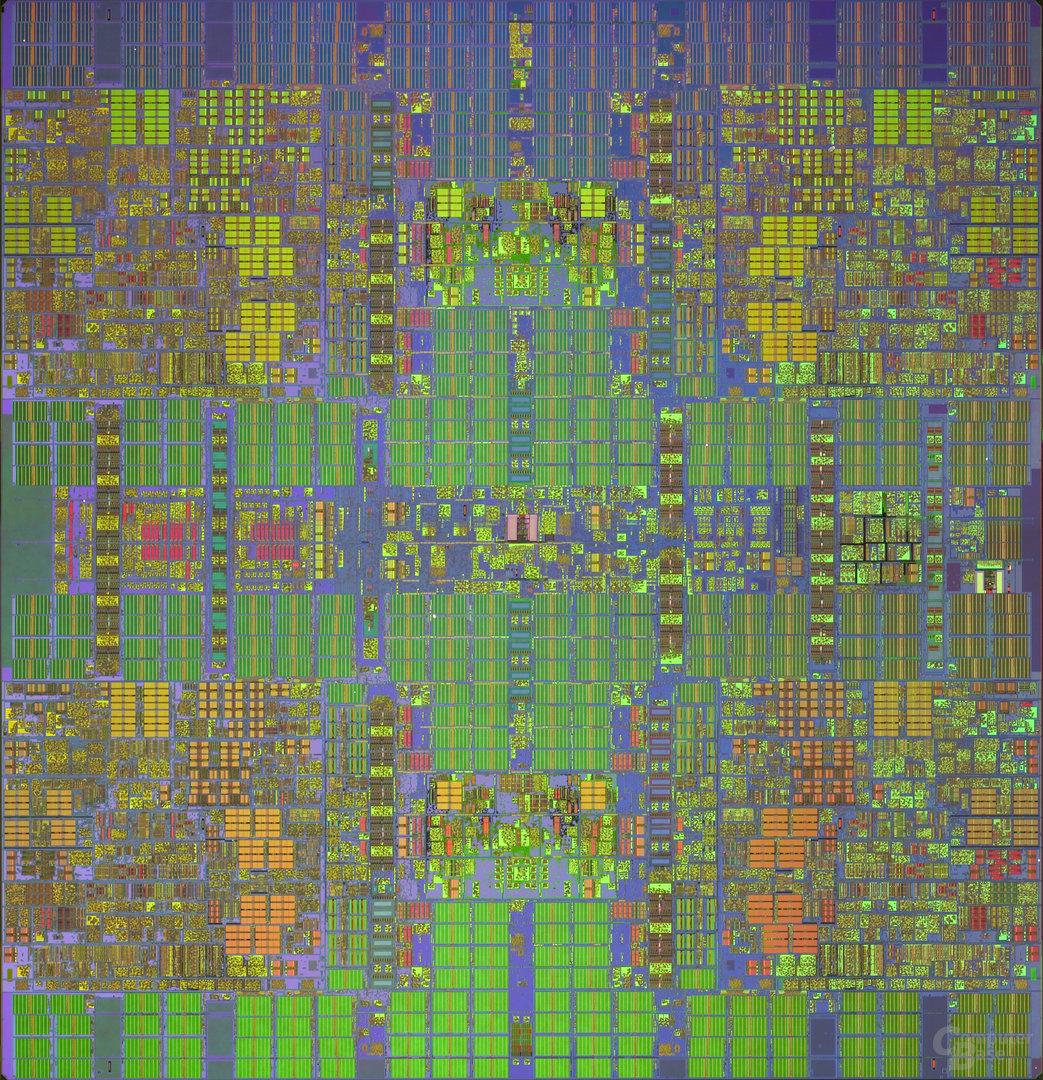 IBM z10 Prozessorchip – Die-Shot