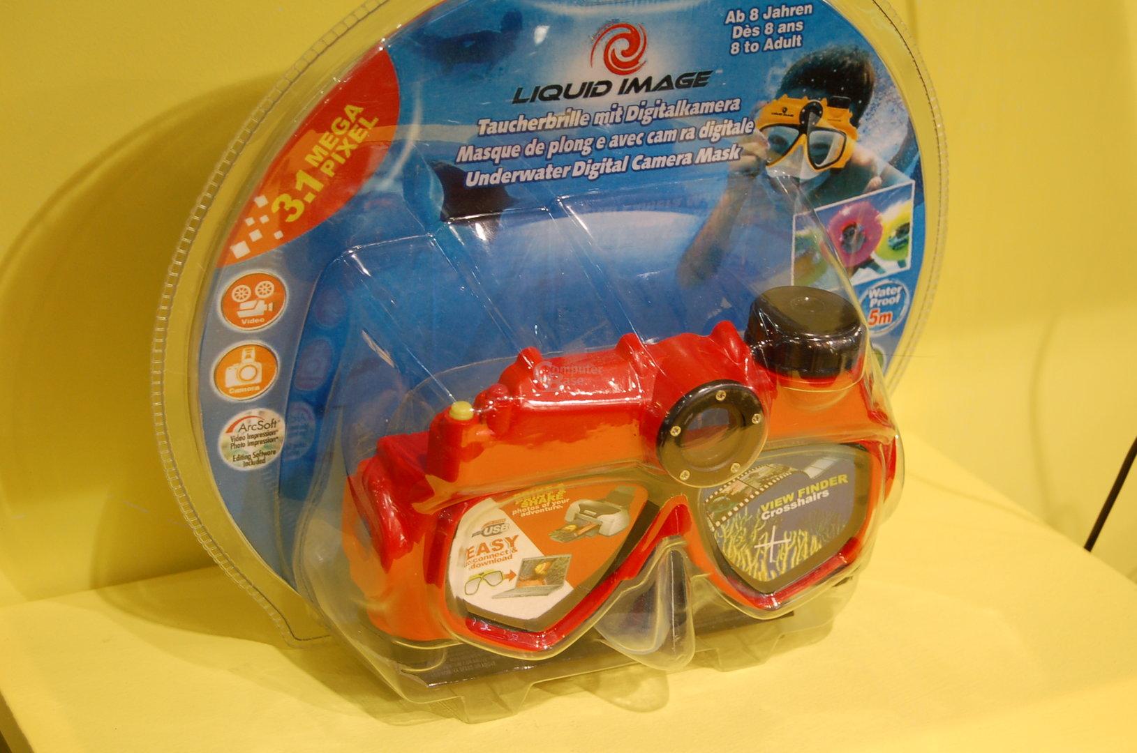 Taucherbrille mit integrierter 3,1-Megapixel-Kamera