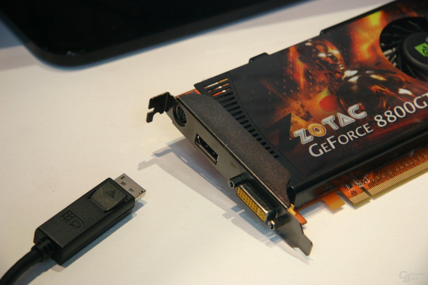 Zotac GeForce 8800 GT mit DisplayPort