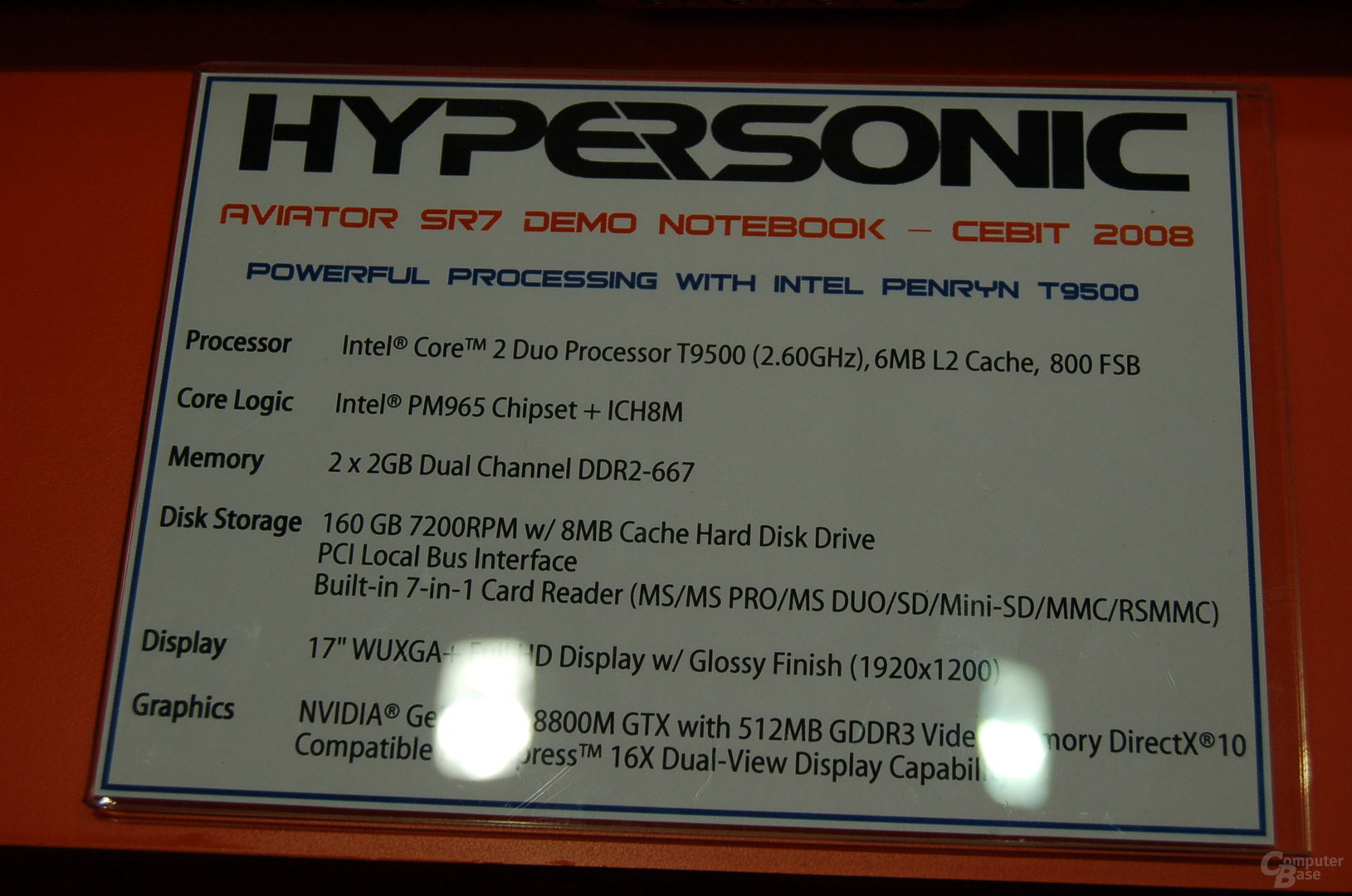 Technische Daten Hypersonic Aviator SR7