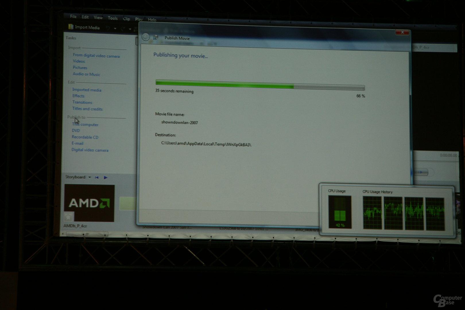 AMD-Präsentation des 45-nm-Prozessors