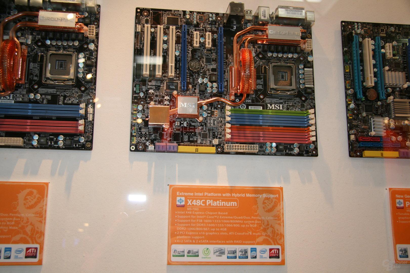 X48 von MSI mit DDR2 und DDR3