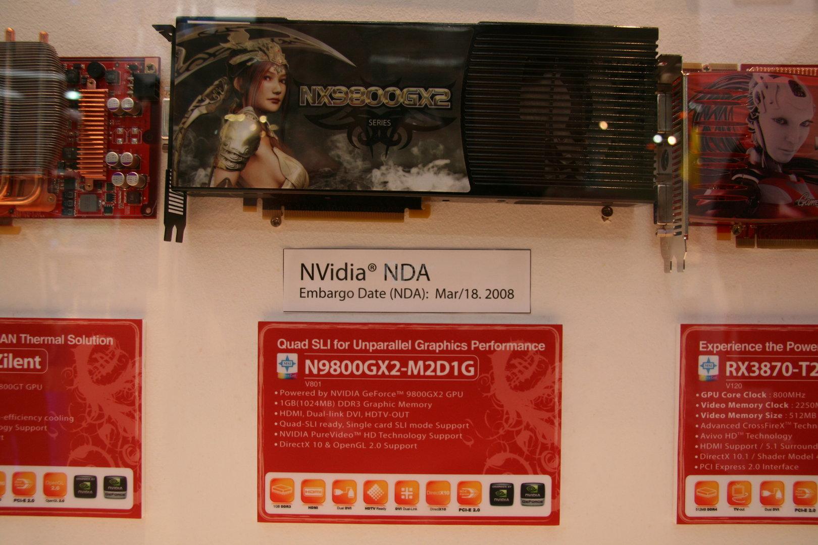 MSI GeForce 9800 GX2 mit NDA-Termin