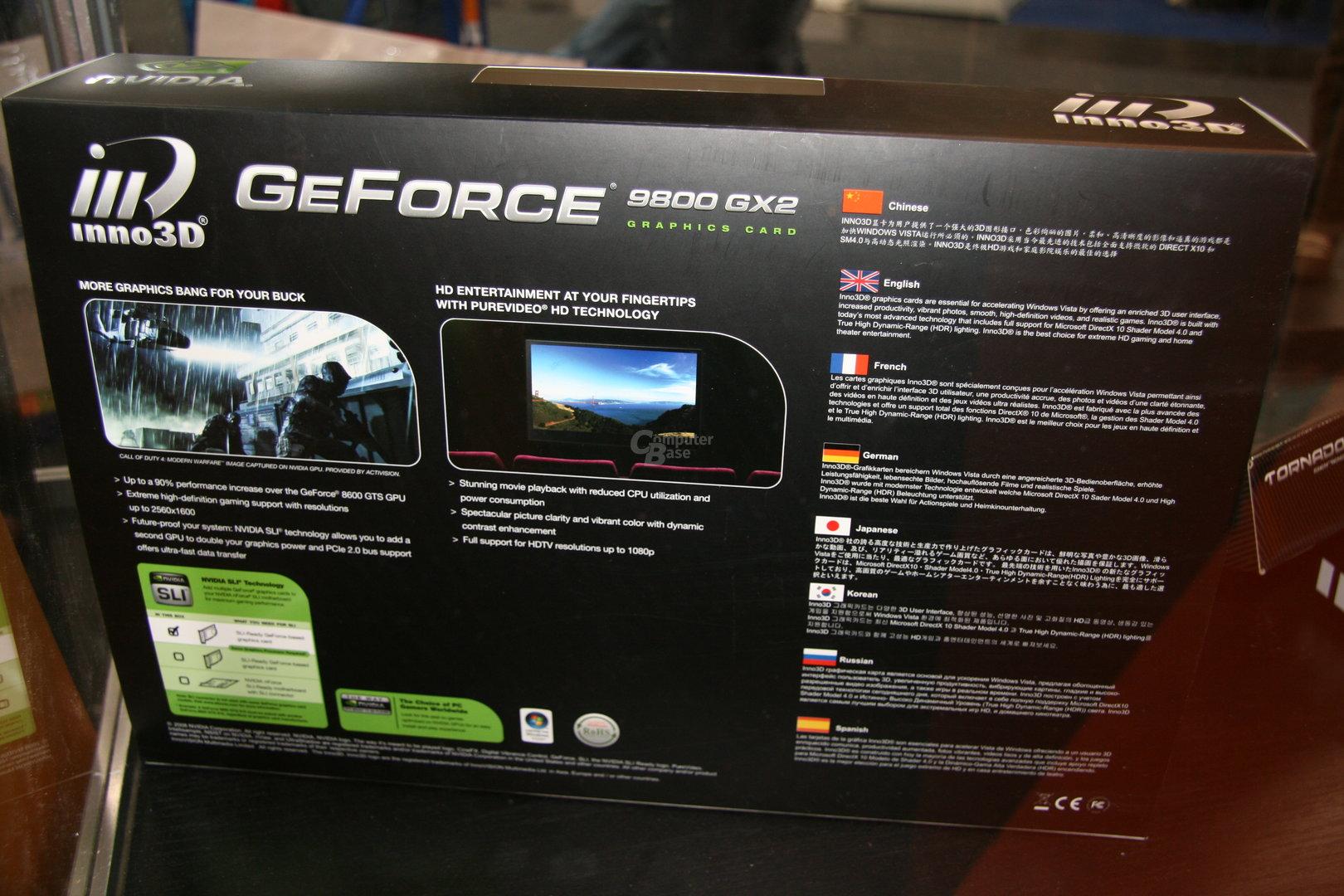 Inno3D GeForce 9800 GX2