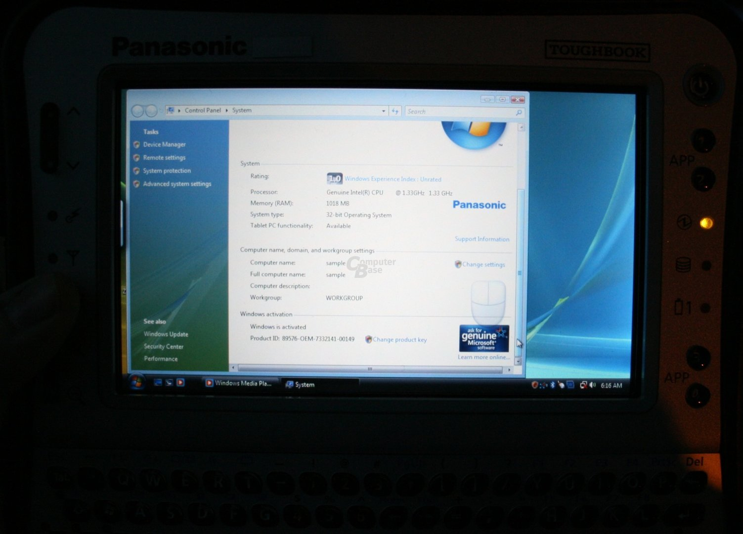 Panasonic Toughbook UMPC – Taktfrequenz