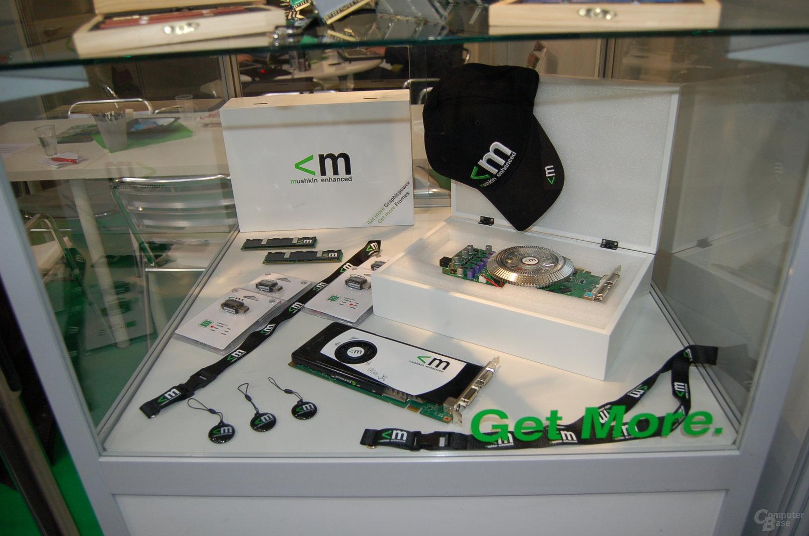 Grafikkarten und USB-Sticks von Mushkin