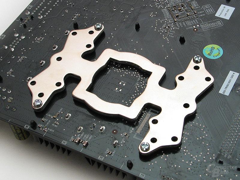 Backplatte mit guter Isolierung