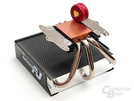 Vormontierte Montagebügel für AMD und Intel – nur bei Platzproblemen muss getauscht werden