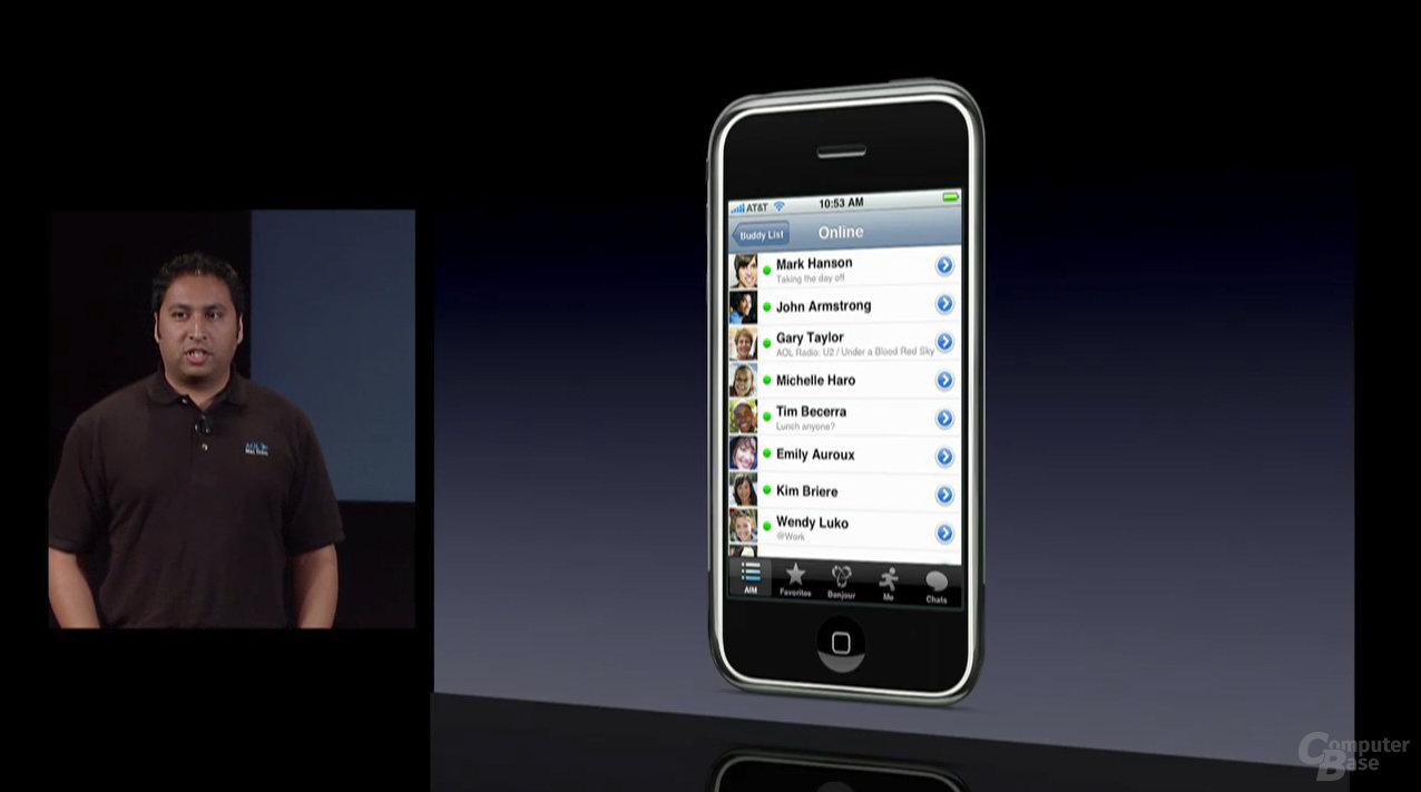 iPhone SDK - AOL AIM auf dem iPhone