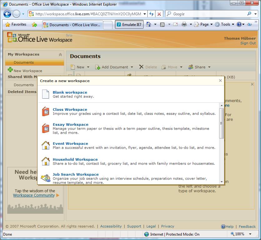 Microsoft stellt diverse Workspace-Vorlagen bereit