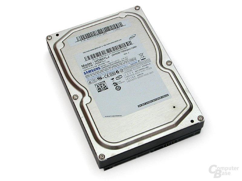 Massenspeicher von Samsung – 500 GByte Fassungsvolumen
