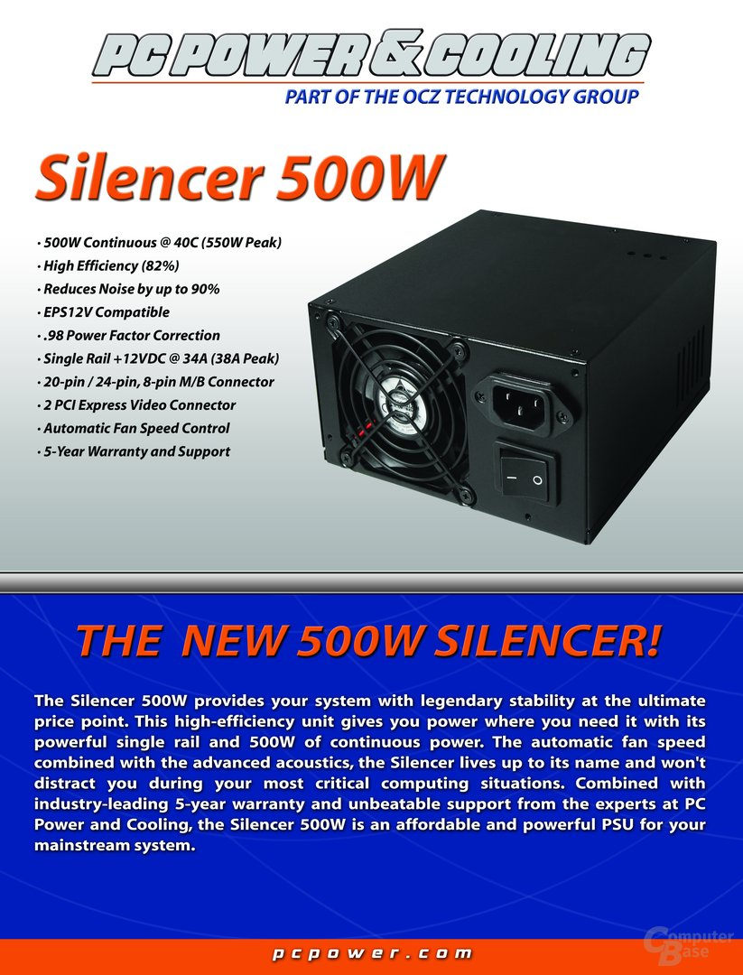 PC Power & Cooling Silencer 500W