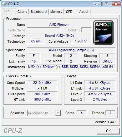 AMD Phenom 9650 im B3-Stepping