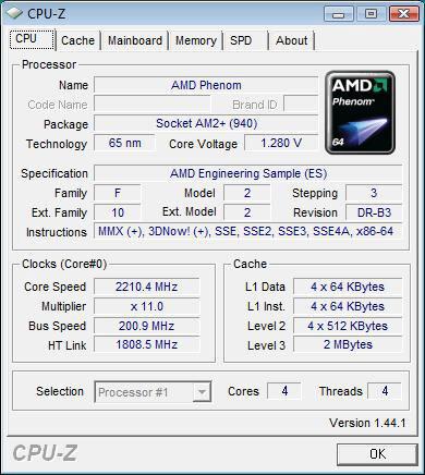 AMD Phenom 9650 im B3-Stepping