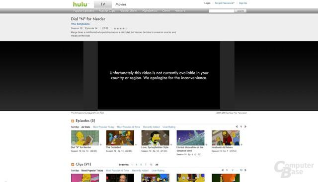 Hulu Filmseite
