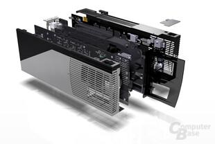 GeForce 9800 GX2 Explode View Back
