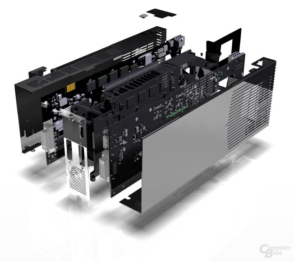 GeForce 9800 GX2 Explode View