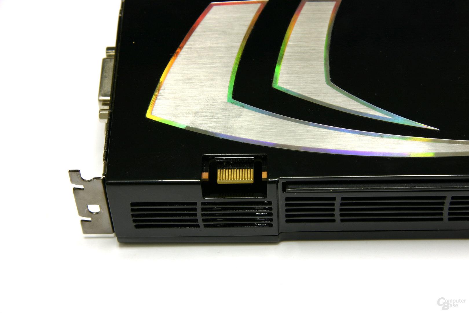 GeForce 9800 GX2 SLI-Anschluss