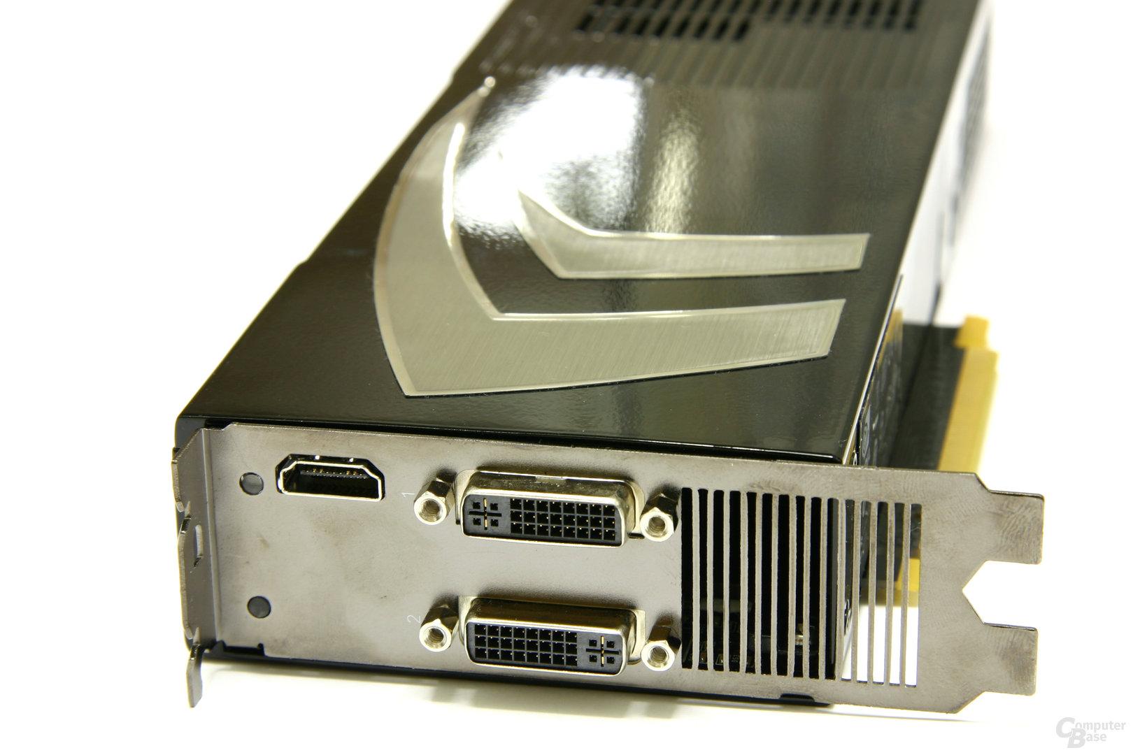 GeForce 9800 GX2 Slotblech