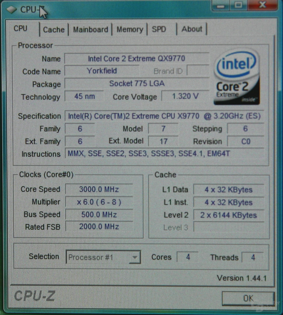 CPU-Z FSB-Overclocking