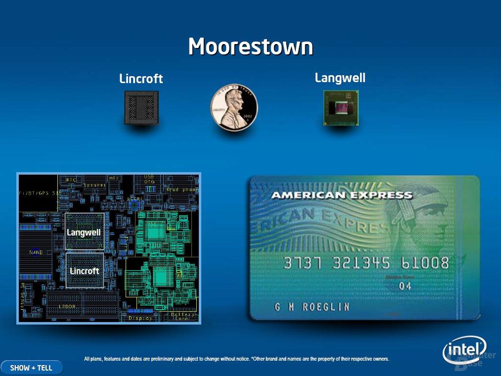 Moorestown ermöglicht besonders kleine Geräte