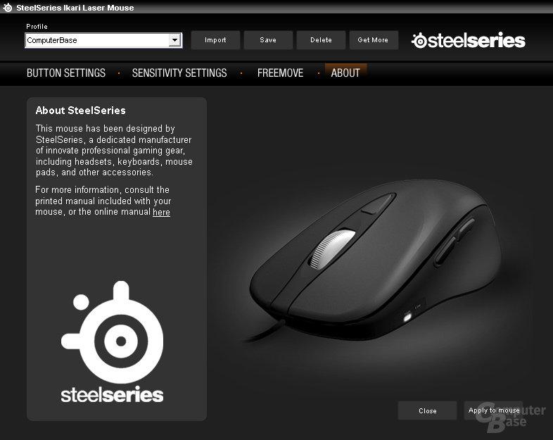 Kein Treiber – die Steelseries-Software kann optional genutzt werden