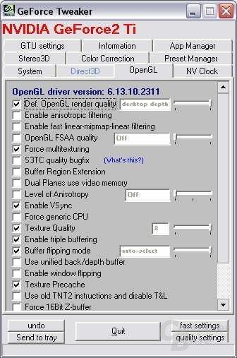 OpenGL Panel