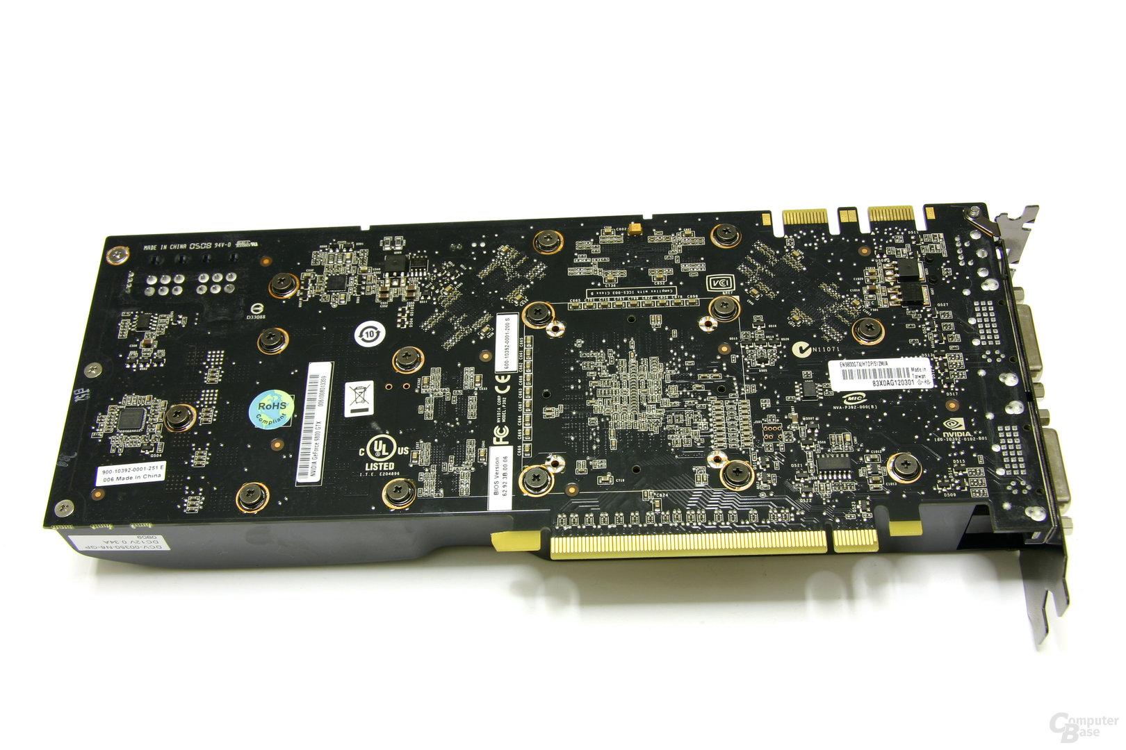 EN9800GTX Rückseite
