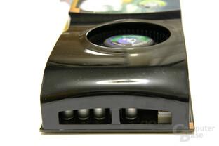 GeForce 9800 GTX Kühlerende