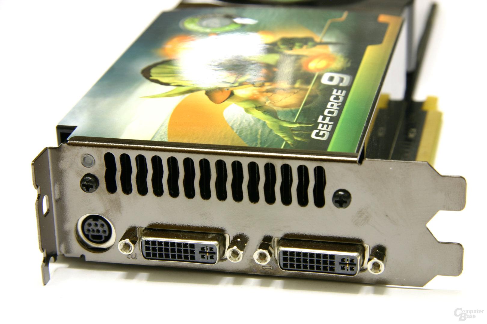 GeForce 9800 GTX Slotblech