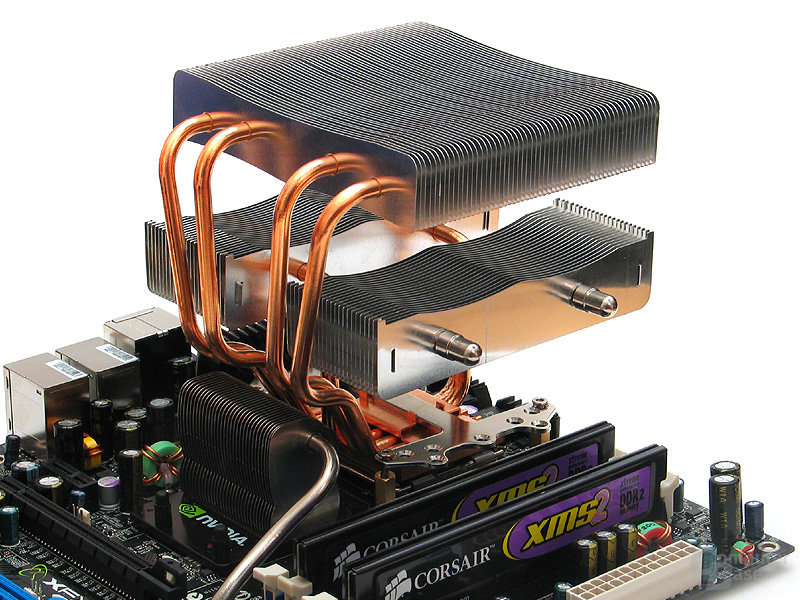 Ausrichtung mit Heatpipes zum Chipsatz bringt die beste Performance