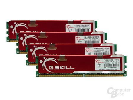 G.Skill 4-GB-Module in einem 16-GB-Kit