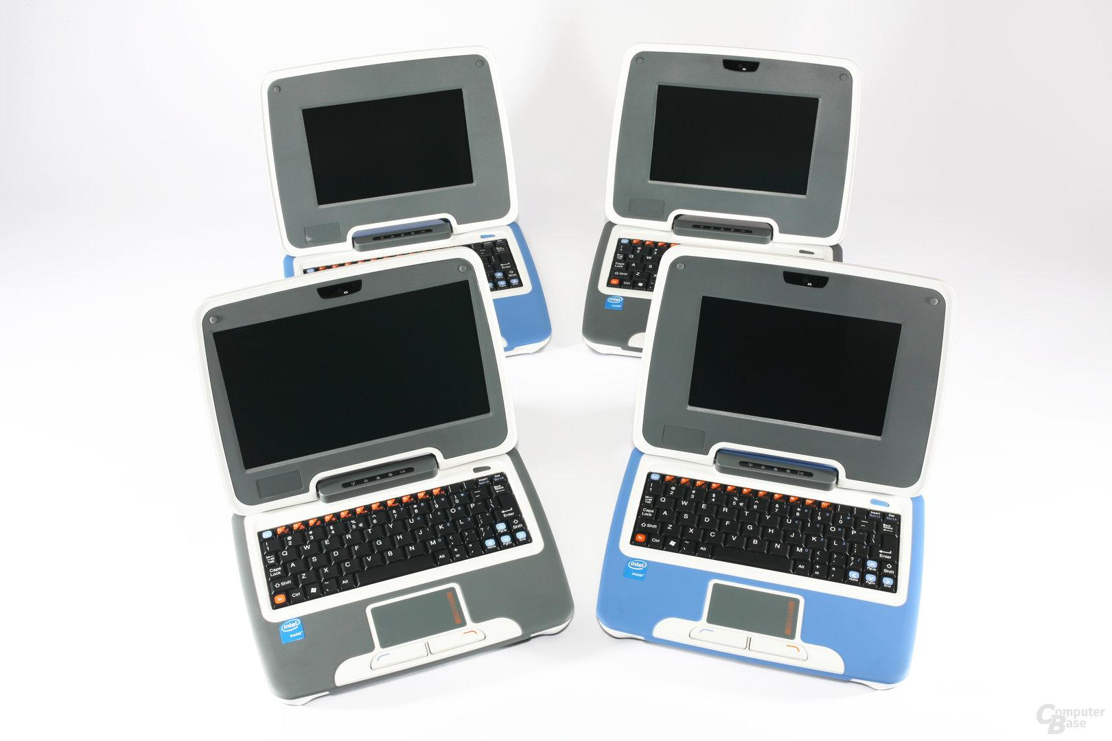 Erste und zweite Generation des Intel Classmate PC