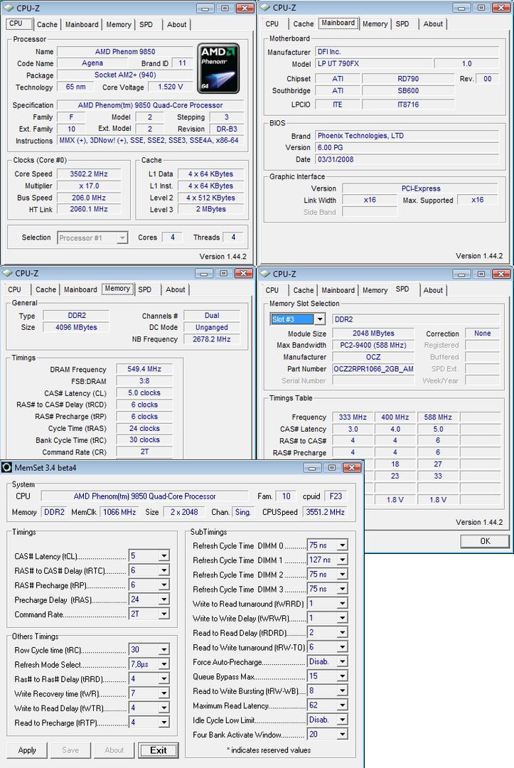 AMD Phenom 9850 Black Edition auf 3,5 GHz