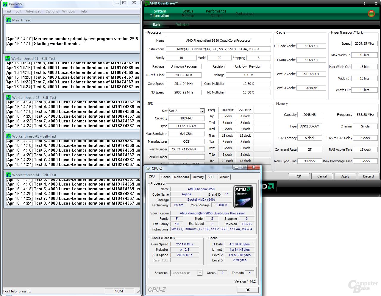 AMD Phenom X4 9850 Black Edition bei 1,15 Volt