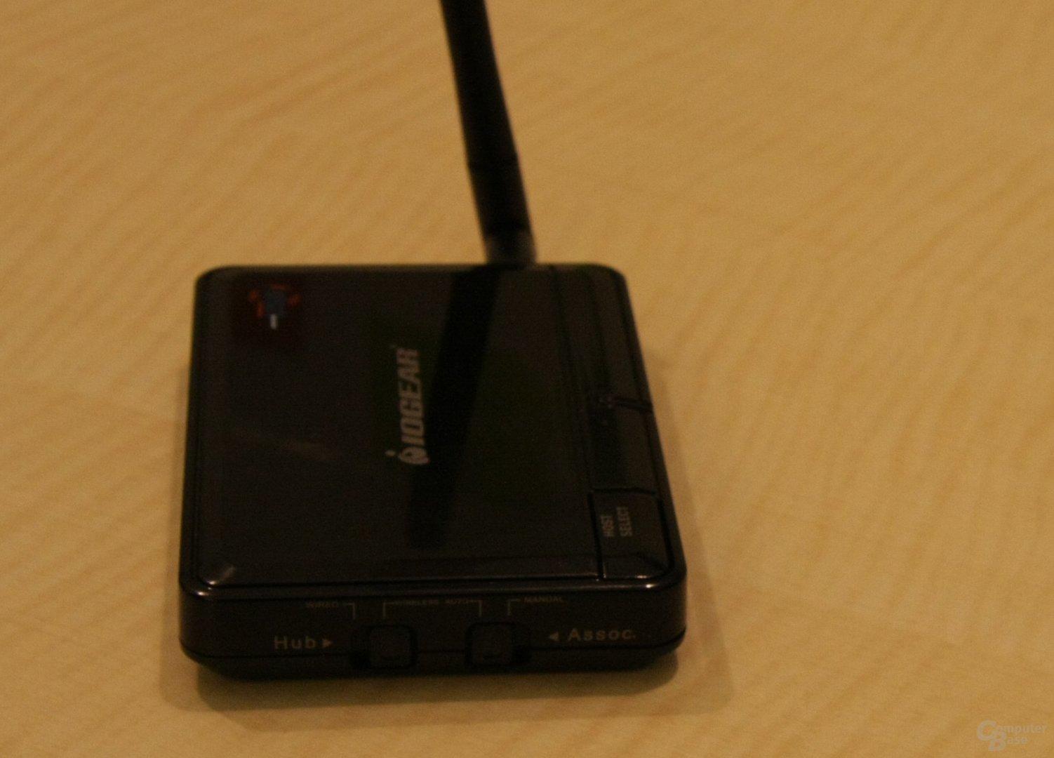 IOGear Wireless USB Hub kann auch als Kabel-USB eingesetzt werden