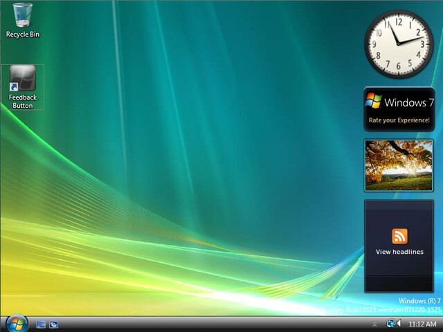 Windows 7 Build 6519
