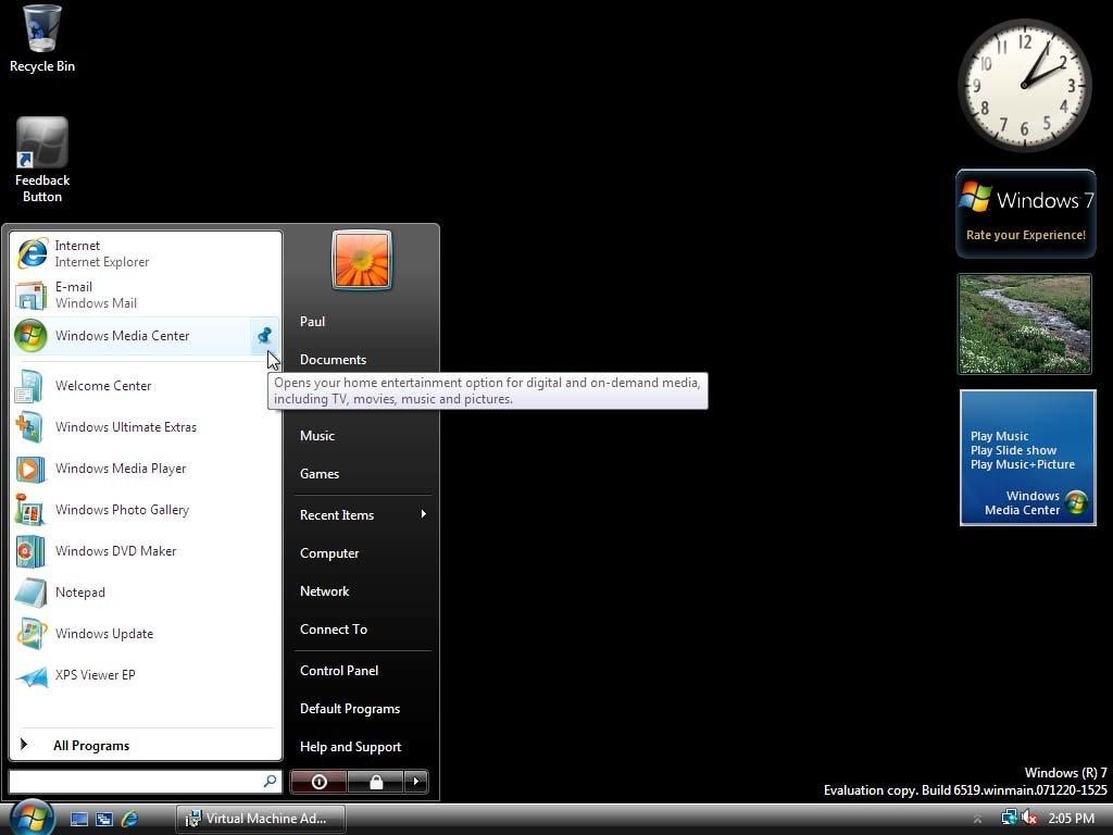 Windows 7 Build 6519