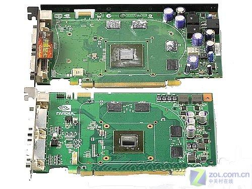 GeForce 8600 GT (Oben) vs. GeForce 9500 GT (unten)