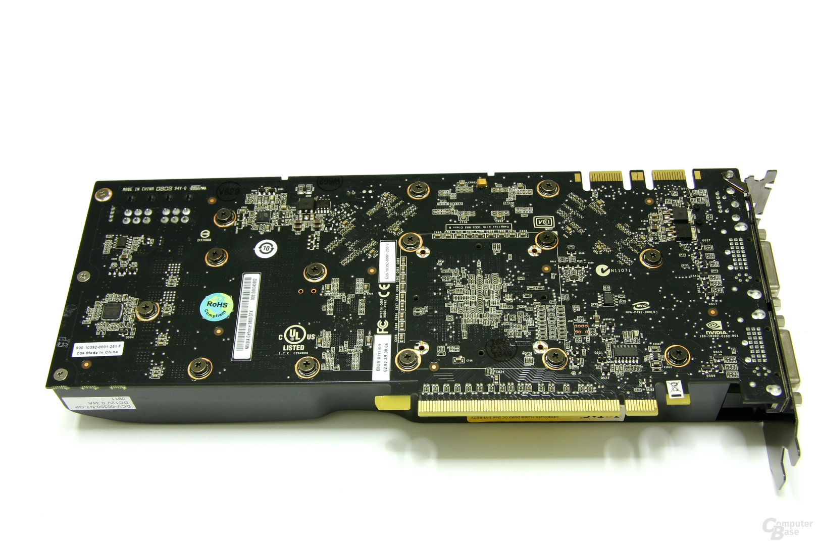 GeForce 9800 GTX AMP! Edition Rückseite