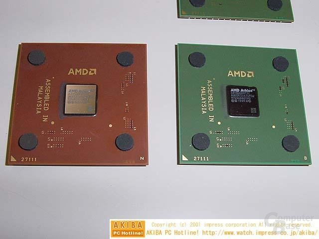 Athlon XP Grün vs. Athlon XP Braun